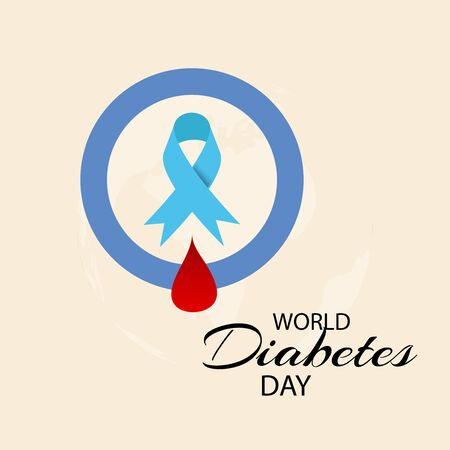 Vector illustration of a Background for World Diabetes Day Awareness.