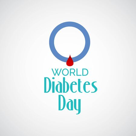 Vector illustration of a Background for World Diabetes Day Awareness. Banco de Imagens - 130750754