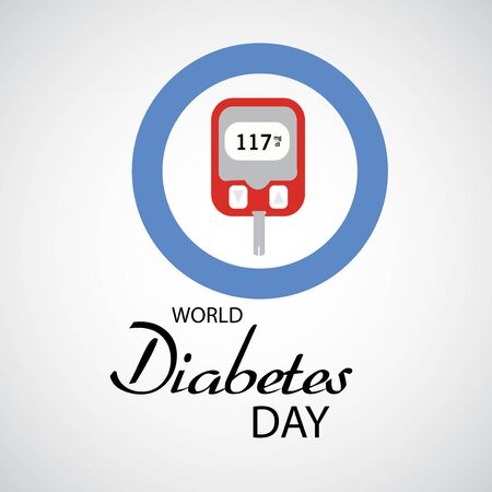 Vector illustration of a Background for World Diabetes Day Awareness. Banco de Imagens - 130750755