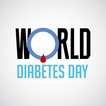 Vector illustration of a Background for World Diabetes Day Awareness. Banco de Imagens - 130750759