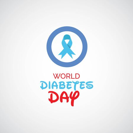 Vector illustration of a Background for World Diabetes Day Awareness. Banco de Imagens - 130750764