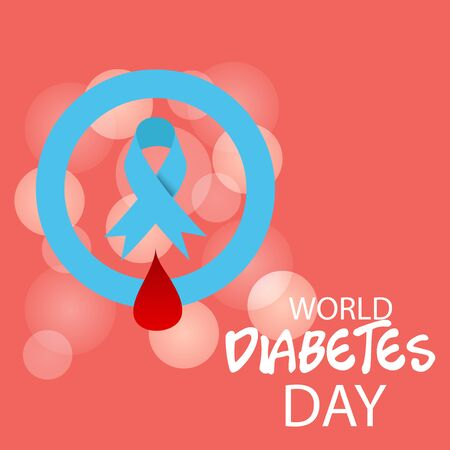Vector illustration of a Background for World Diabetes Day Awareness. Banco de Imagens - 130750765