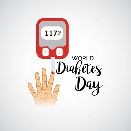 Vector illustration of a Background for World Diabetes Day Awareness. Banco de Imagens - 130750658