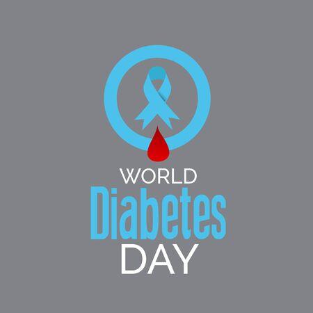 Vector illustration of a Background for World Diabetes Day Awareness. Banco de Imagens - 130750657
