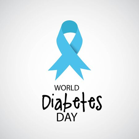 Vector illustration of a Background for World Diabetes Day Awareness. Banco de Imagens - 130750661
