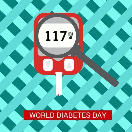 Vector illustration of a Background for World Diabetes Day Awareness. Banco de Imagens - 130750666