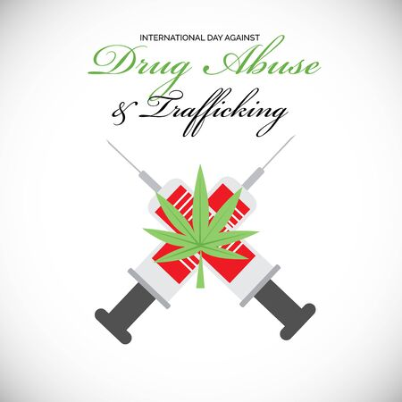 Vector illustration of a background for  Drug Abusing Concept Poster Template Design,International Day Against Drug Abuse. Illustration