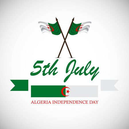 Illustration Of a background or poster for Algeria Independence Day. Vectores