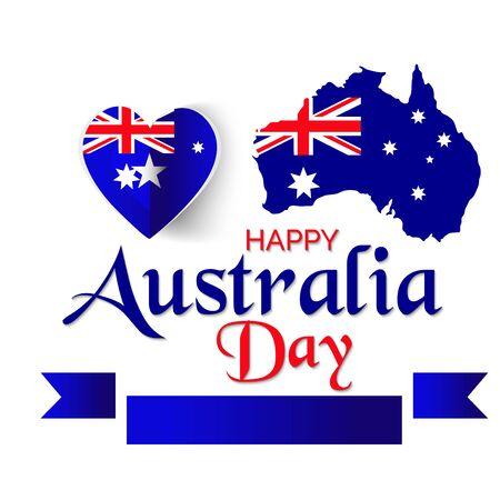 Illustration vectorielle d'un fond pour Happy Australia Day.