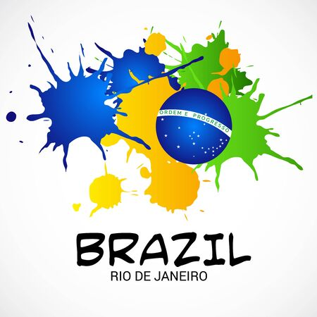 Vector illustration of a background for Brazil Independence Day. Ilustrace