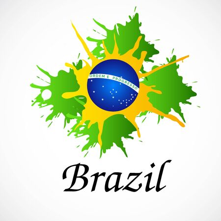 Vector illustration of a background for Brazil Independence Day.