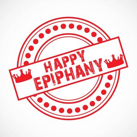 Vecor Illustration of a background for Happy Epiphany.