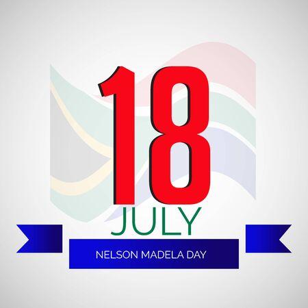 Ilustración vectorial de un fondo para el día internacional de Nelson Mandela. Ilustración de vector
