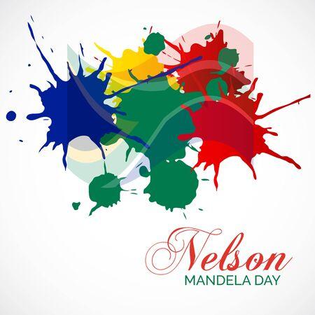 Vector illustration of a Background for International Nelson Mandela Day.