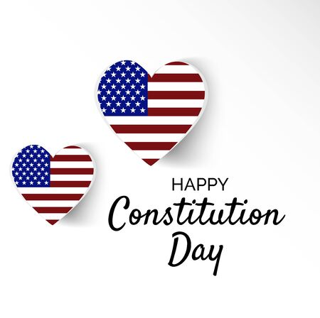 Vector illustration of a background or Poster for United States Constitution Day.