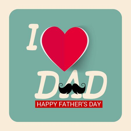 Vector illustration of a background for Happy Father's Day. Illustration