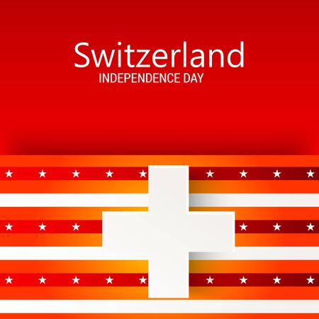 Vector illustration of a Background for Happy Swiss National Day.