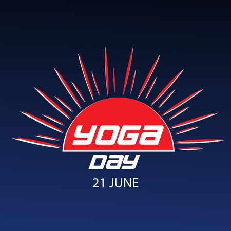 Vector illustration of a background for International Yoga Day. Ilustrace