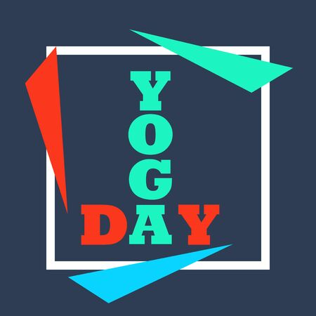 Vector illustration of a background for International Yoga Day.