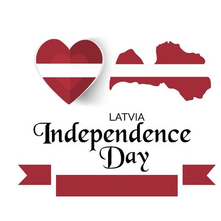 Vector illustration of a background or Poster for Latvia Independence Day. Ilustración de vector