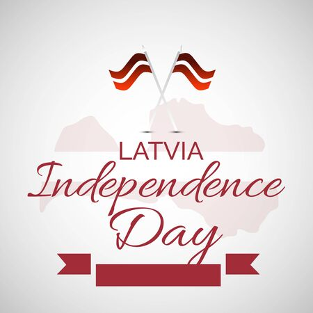 Vector illustration of a background or Poster for Latvia Independence Day.