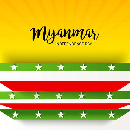 Vector Illustration of a background for Myanmar Independence Day.