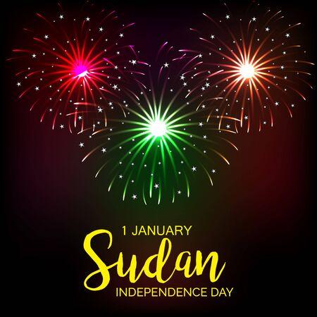 Vector illustration of a background or banner for Sudan Independence Day. Illustration