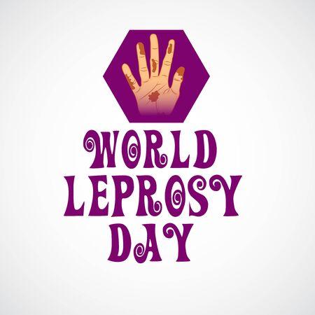 Vector illustration of a background or poster for World Leprosy Day. Vektorové ilustrace