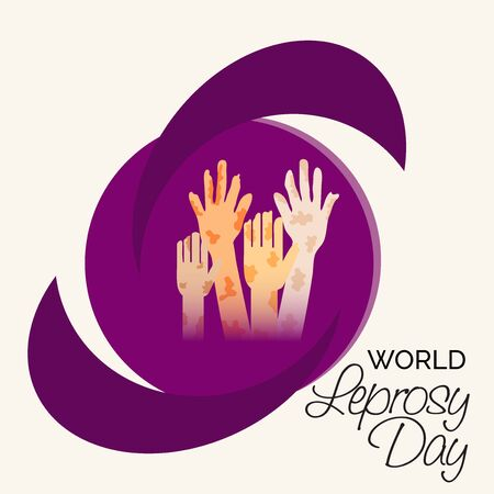 Vector illustration of a background or poster for World Leprosy Day.