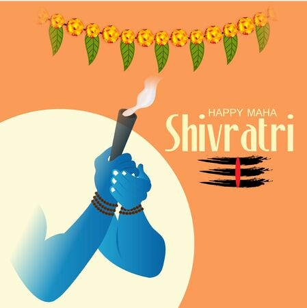 Vector Illustration Of Poster Or Banner Background for Happy Maha Shivratri.