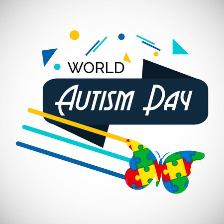 Vector illustration of a Background for World Autism Awareness Day. Illustration