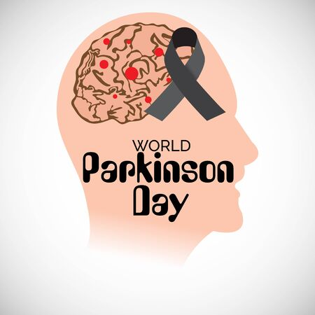 Vector illustration of a background For World Parkinson Day.