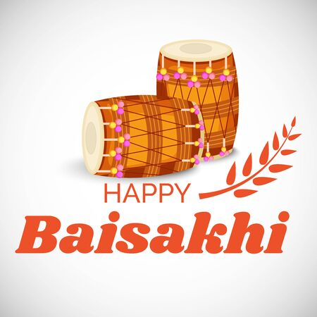Vector illustration of a Background for Happy Baisakhi.