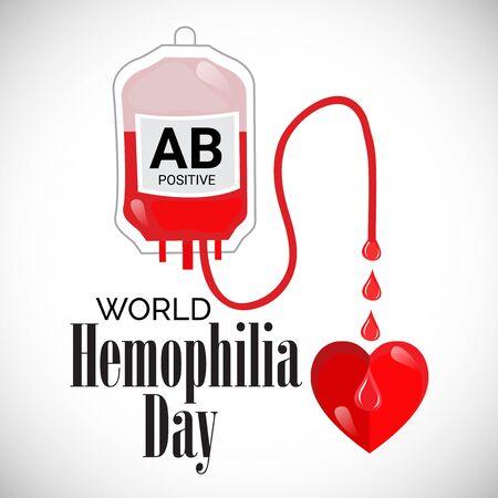 Vector illustration of a Background for World Hemophilia Day. Vector Illustration
