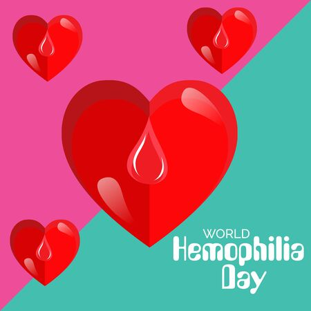 Vector illustration of a Background for World Hemophilia Day.