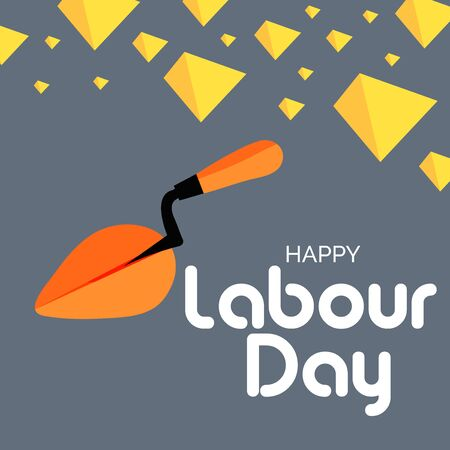 Vector illustration of a background or Poster For Labour Day. Vecteurs