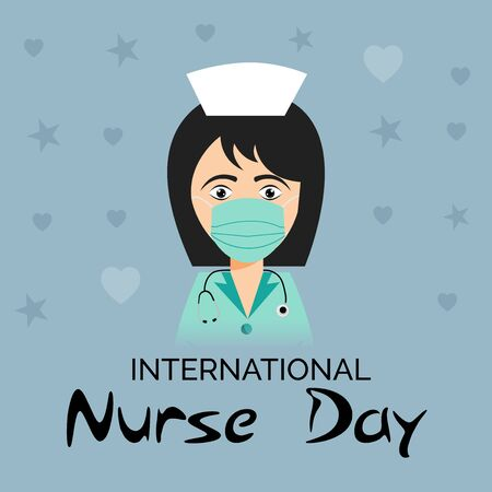 Vector illustration of a background or Poster for International Nurse Day.