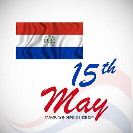 Vector illustration of a background or poster for Paraguay Independence Day.