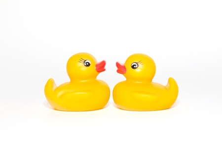 squeak: two kissing rubber ducks