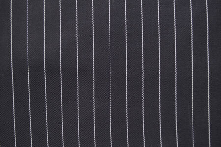 silk wool: Black and white pinstripe suit detail up close