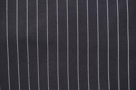 Schwarze und weiße Nadelstreifen Anzug Detail hautnah