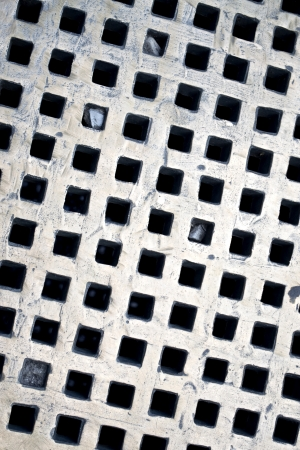 metal grate: White metal grate image for use as a background