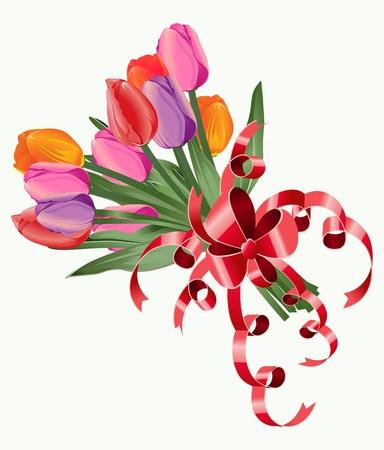 Tulip bouquet. Vector. Stock Photo - 11992113