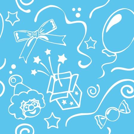 Boy birthdays seamless background Vector