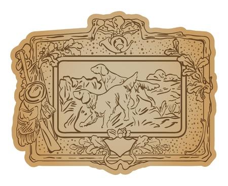 broun: Broun background with hunting border