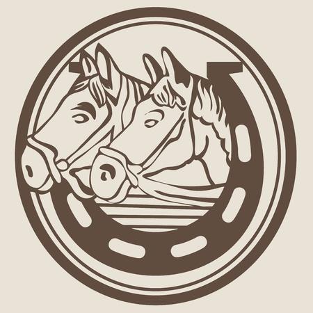 horseshoe vintage: Horseshoe lucky symbol