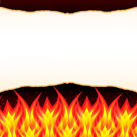 Abstract burn flame fire wall vector background Stock Vector - 13082065