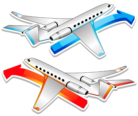 jet airplane: Two airplanes
