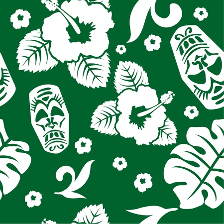 aloha seamless pattern Vector