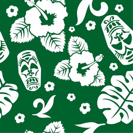 aloha seamless pattern Illustration